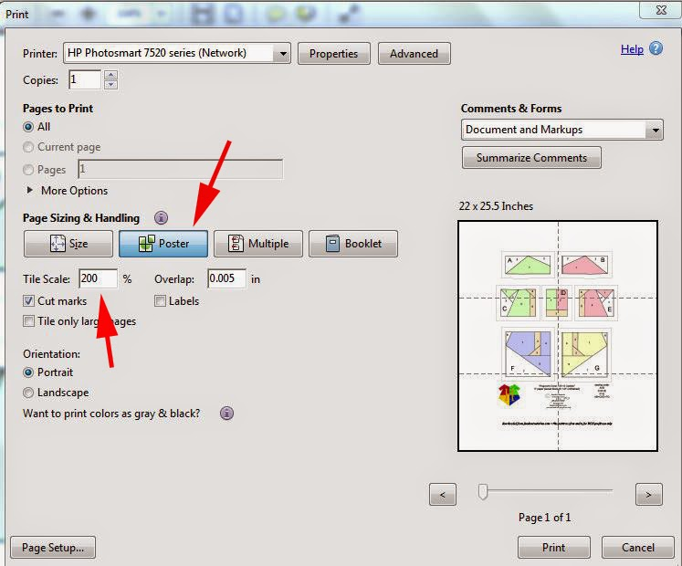 How to Enlarge & Reduce Patterns with Adobe Reader (2/4)