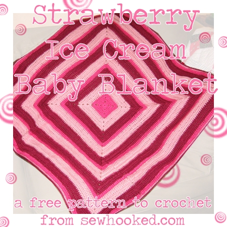 strawberry ice cream baby blanket