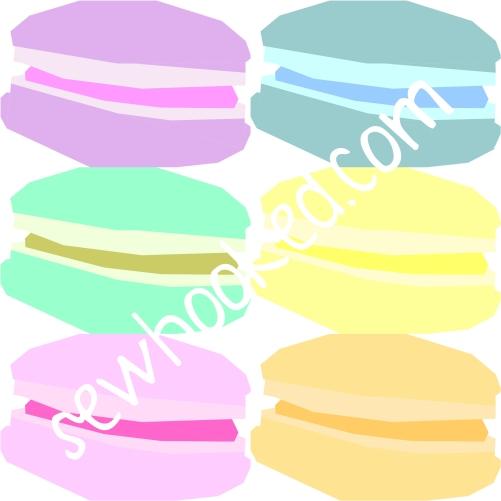 macaron half dozen diff colors 12 in