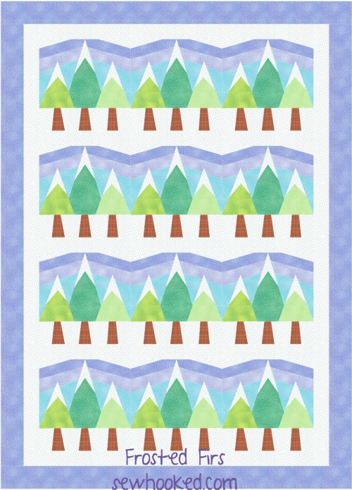 Frosted Firs quilt