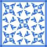 braided confetti in blues