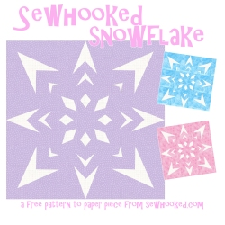 Sewhooked Snowflake Title