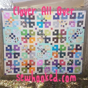 Clover All Over quilt in fabric