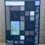 I Want To Believe XFiles Quilt by Jennifer Ofenstein (5)