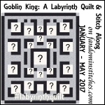 labyrinth quilt badge square