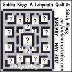 labyrinth quilt badge square