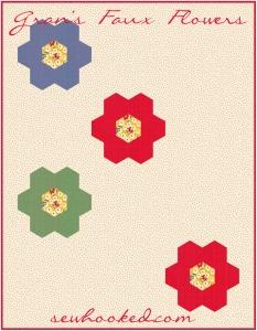 Gran's Faux Flower mock quilt