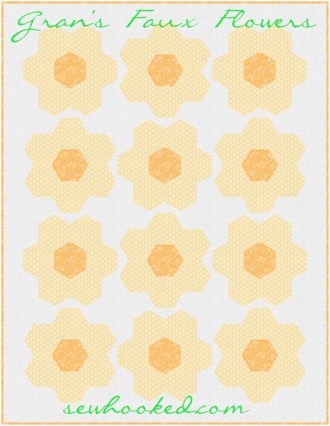 Gran's Faux Flower mock quilt 2