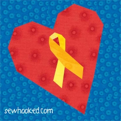 yellow ribbon heart